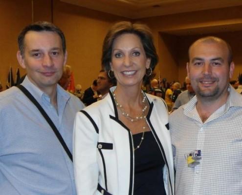 Milan Gavenčiak, Margaret Kelly a Pavel Hassman v Las Vegas